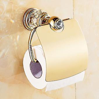 Luxury Gold Crystal Messinki KylpyhuoneTarvikkeet Kylpyhuone Laitteistosentti Kulta Saippua Tiskipaperi Verkko