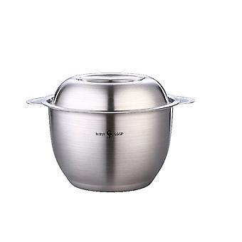Abdeckband Haushalt 304 Edelstahl Schüssel Küche Öl Gewürzbecken mit großer Kapazität Lagerung
