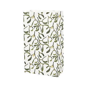 Muérdago de Navidad 10 impresas bolsas de papel de fiesta favor