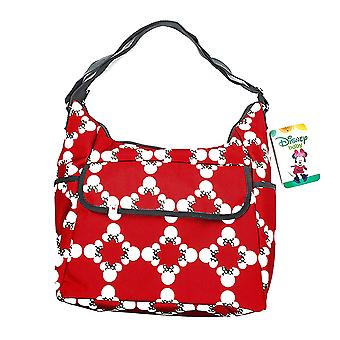 Disney Baby Minnie Mouse Classic Carryall Red and White Diaper Bag