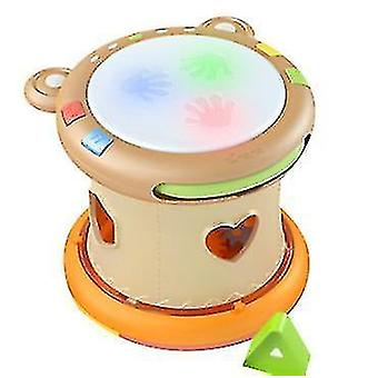 Baby Musical Toy, Electronic Drum Instruments, Early Educational Gift For Infants(Orange)