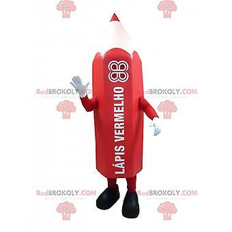 Mascote REDBROKOLY.COM lápis vermelho gigante.Mascote Caneta REDBROKOLY.COM