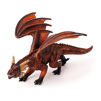 Fantasy Fire Dragon with Articulated Jaw Toy Figure
