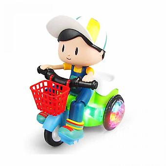 Led Light & Music Electronic Tricycle Stunt Car Kids Gift Party Favorsboy
