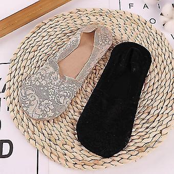 Bottling bottles 2 pairs women girls summer lace socks nude black