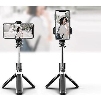 Motor vehicle video monitor mounts 4 in 1 bluetooth wireless selfie stick and foldable tripod black
