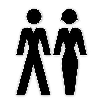 Musta akryyli uros & nainen PUVUT Ihmiset WC ovikyltit
