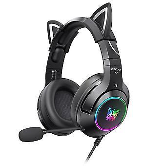 Xbox One用ジェルキャットイヤー付きゲーミングヘッドセット, Ps4, Ps5, PC