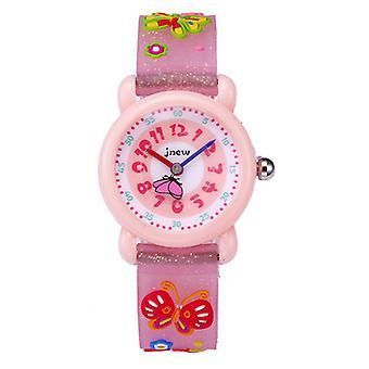 Children's Cartoon Watch Waterproof 3d Silicone Children's Watch-butterfly