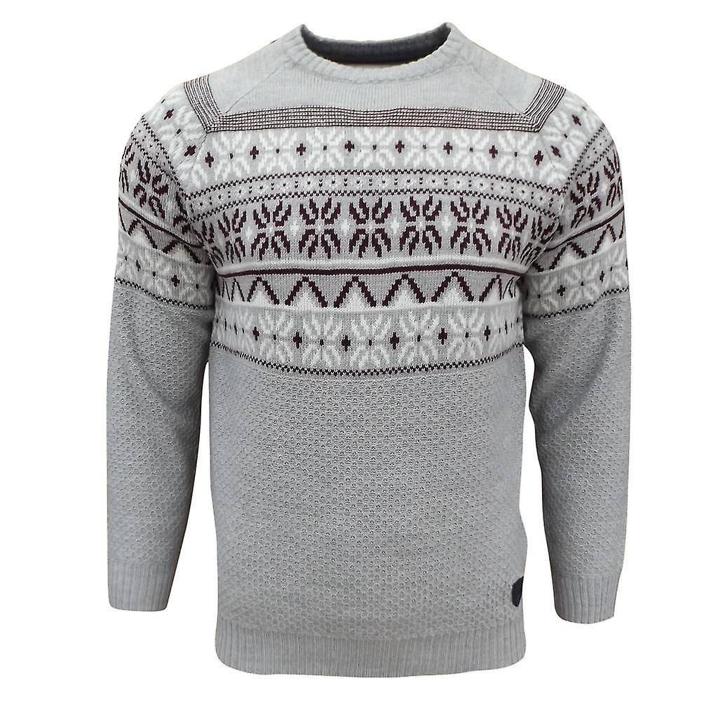 Soul Star Men's Venzy Nordic Knitted Jumper