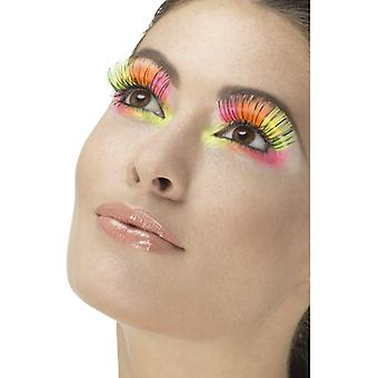 80 lashes neon Mulitcolor with black stripes