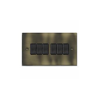ハミルトン Litestat ・ チェリトン ビクトリア朝のアンティーク真鍮 6 g 10AX 2 Way Rkr BL/BL