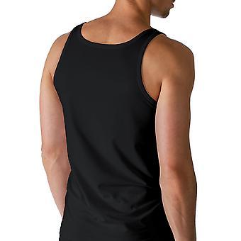 Mey 46000-123 mannen droog katoen zwart effen kleur Tank Vest Top