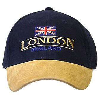 Londen Engeland Baseball Cap Suede Cap met verstelbare riem