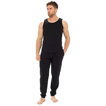 Tom Franks Mens Polycotton Yelek ve Pantolon Lounge Gecelik Pijama