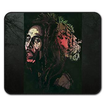 Marley Lion legenden Rasta sklisikre musematte Pad 24 cm x 20 cm | Wellcoda