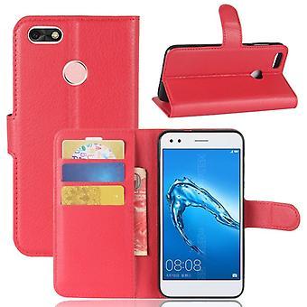 Kieszeni portfel premium czerwone dla Huawei Y6 Pro 2017 / cieszyć się 7 rękaw ochronny pokrowiec pokrywy obudowy nowe