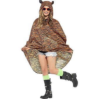 Tigerkostüm Partyponcho Tiger Poncho Regenjacke Festival Kostüm