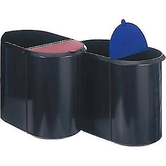 Helit H6103993 Waste paper basket 29 l Plastic Black, Blue 1 pc(s)