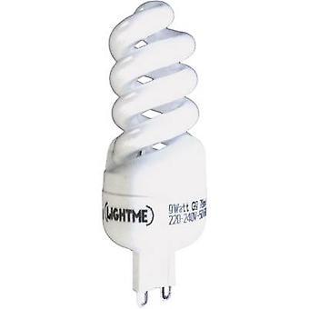 LightMe Energy-saving bulb EEC: A (A++ - E) G9 92 mm 230 V 9 W Warm white Spiral shape 1 pc(s)
