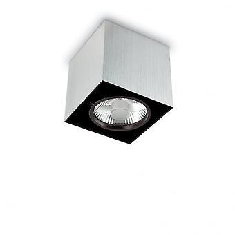 Ideal Lux Mood 14.5cm GU10 Aluminium Surface Square Ceiling Spotlight
