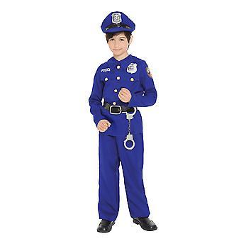 Politibetjent betjente politimand ensartet rolle spille bog uge drenge kostume