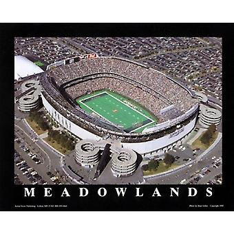 Meadowlands - Ny Jets At Giants Stadium Poster Print by Brad Geller (28 x 22)