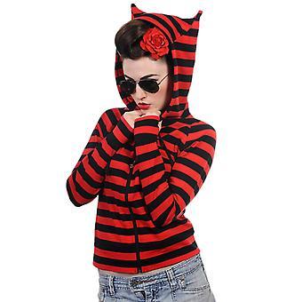 Dancing Days Cat Ears Striped Hoodie