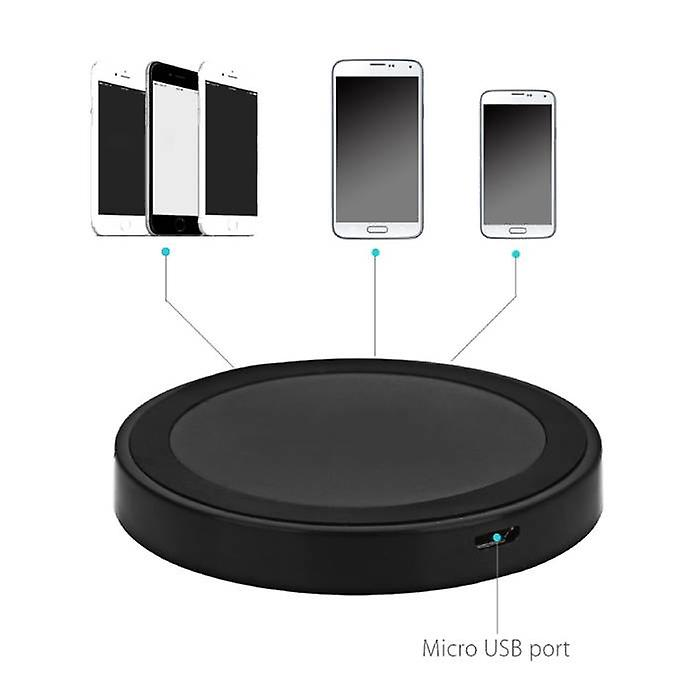 Stuff Certified® Qi Q5 Universal Wireless Charger 5V - 1A Wireless Charging Pad Black