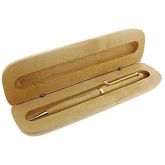 Gave tid produkter golfklubb klipp kulepenn og Box - lys brun/gul