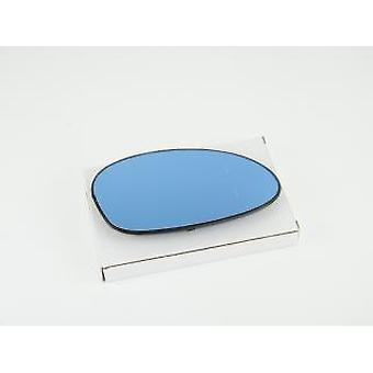 Right Driver Side Blue Mirror Glass (Heated) & Holder For BMW 1 Coupe 2007-2010