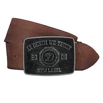 TOM TAILOR bälte läder kuter mäns bälten jeans bälte Cognac 4354