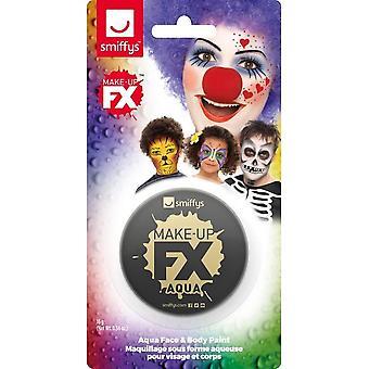 Smiffys Make-Up FX-, svart-, Aqua ansikts- och kroppsfärg, 16ml, vattenbaserad