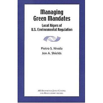 Gestionnaires mandats vertes - Local rigueurs du U.S. Environmental Regulatio