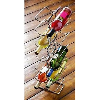 Chrome filo Tier 6 vino Rack