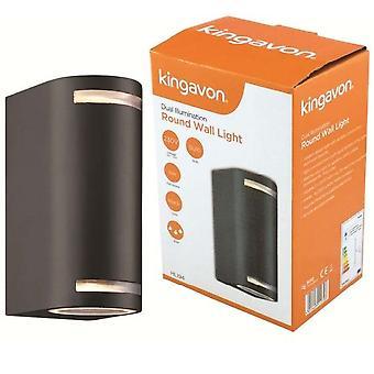 Kingavon Dual Illumination Round Wall Light 1P44 Black