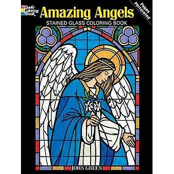 Erstaunliche Engel Glasmalerei Malbuch