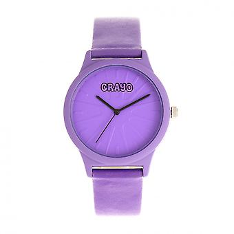 Crayo Splat Unisex Watch - Purple