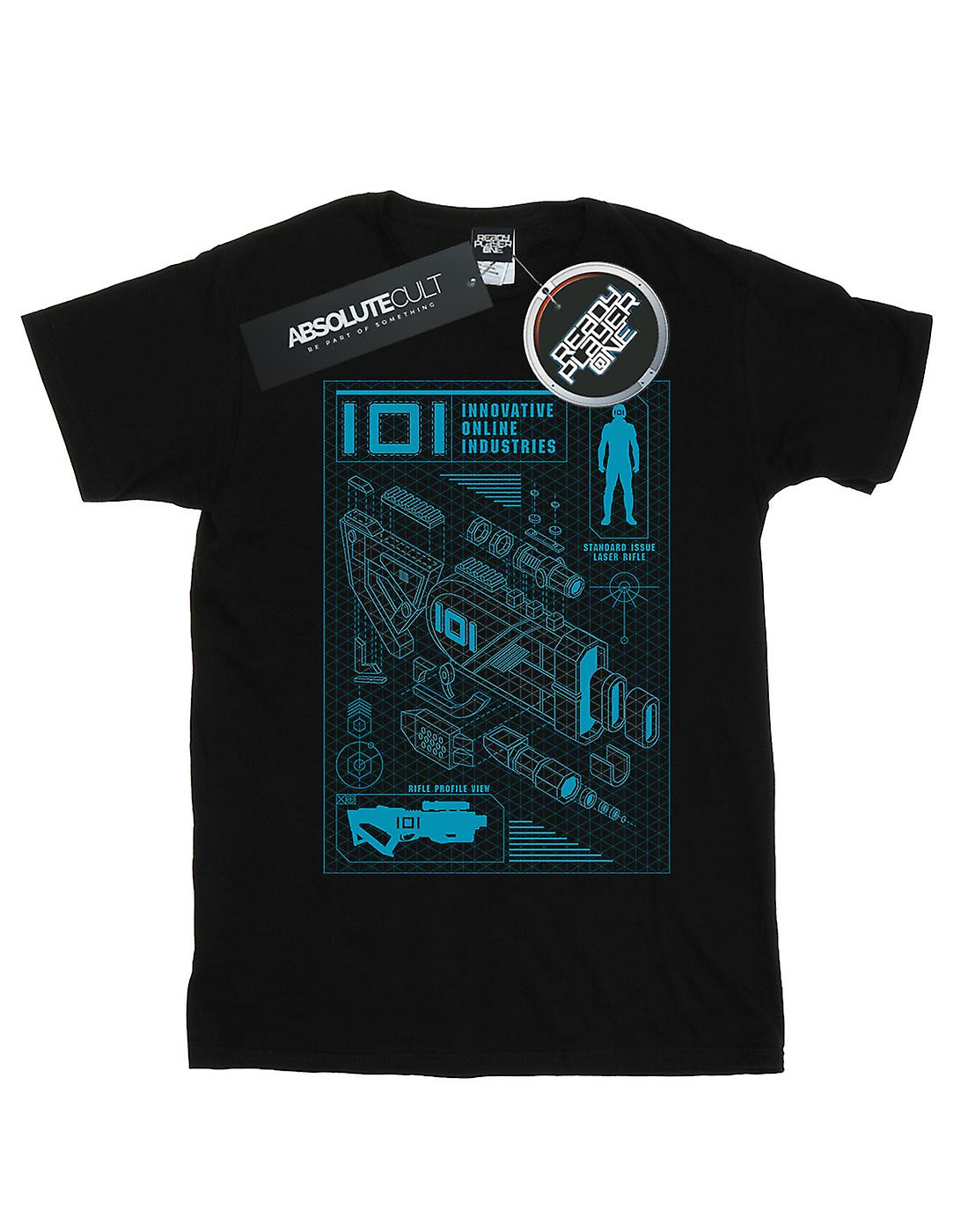 Ready Player One Boys IOI Laser Rifle Blueprint T-Shirt