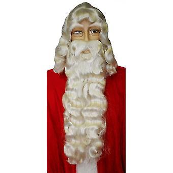 Santa asetettu valkoinen