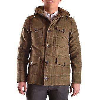 Peuterey Ezbc017037 Men's Green Wool Outerwear Jacket