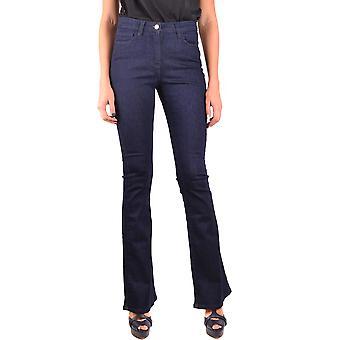 Edward Achour Ezbc121010 Femmes-apos;s Jeans en coton bleu