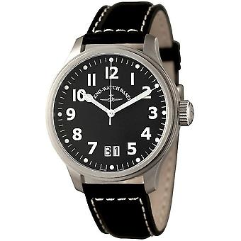 Zeno-Watch - Armbanduhr - Herren - Oversized Pilot Big Date Q - 4268-7003BQ-a1