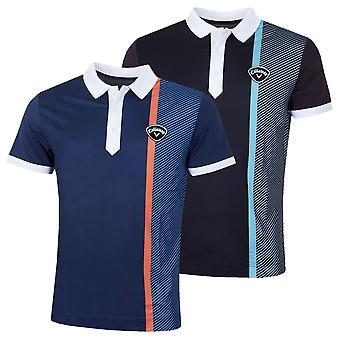 Callaway Mens Bold Linear Print Tour Chevron Golf Polo Shirt