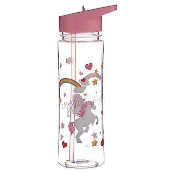 Puckator Water Bottle, Enchanted Rainbows