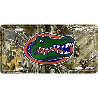 Florida Gators NCAA Camo License Plate