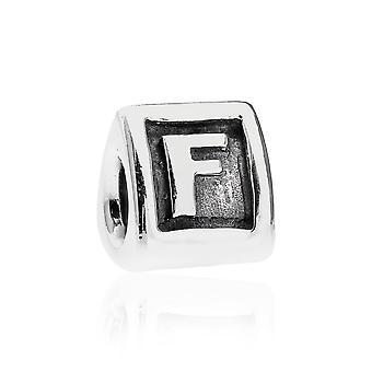 Pandora Alpha F argento iniziale Charm 790323F