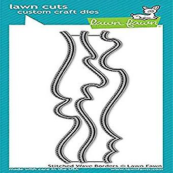 Rasen Fawn Stitched Wave Borders Dies (LF1710)