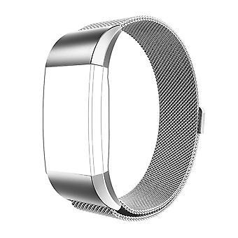 FitBit kosten 2 Strap Milanese staal magnetische sluiting zilveren band