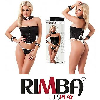Amorable' by Rimba Lingerie Satin Bustier Outfit (R1781)